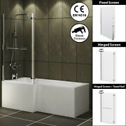 1500/1600/1700mm L Shaped Shower Bathtub Front And End Bath Panel Shower Screen
