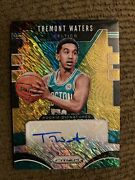 2019-2020 Panini Prizm Tremont Waters Gold Shimmer Auto 9/10
