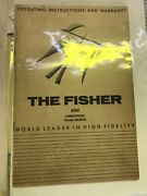 Fisher Ta-600 Stereophonic Tube Receiver - Original Manuals And Schematics The 600