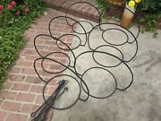 1960and039s Vintage Iron Plant Planter Stand Holders Patio Hanging With Hooks Mcm 7