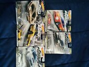 Hot Wheels Fast And Furious Fast Tuners Premium, 2 Sets Repeated. 100 Obo