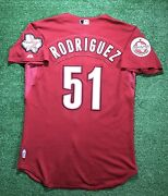 2006 Wandy Rodriguez Houston Astros Game Used Worn Road Red Brick Jersey Pirates