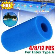 Swimming Pool Foam Filter Sponge Cartridge For Type A Reusable Washable Portable