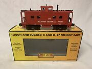 ✅mth Railking Illinois Central Steel Caboose 30-77055 For Diesel Steam Engine