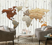 3d Brown Map Kep4263 Wallpaper Mural Self-adhesive Removable Sticker Bea
