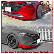 Paint Color Fit For Mazda 3 4th Bp 5d Dto Type Front Bumper Spoiler 2021