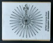Compass Rose Wind Rose Nautical Sailor Direction Guide Wood Rubber Stamp