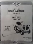 Haban Sickle Bar Mower Attachment Garden Tractor Owner Service Parts Manual 402e