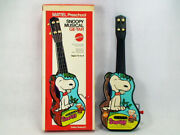 Vintage Mattel 60and039snoopy Musical Guitar With Box