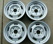 Gm Original14x6 Rally Wheels Code Yw With New Rings And Caps Set Of 4