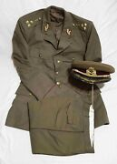 Romanian Army Old Complete Colonel Medic Uniform Tunic Pants Hat Rare Model