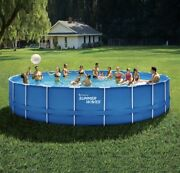 Summer Waves 24 Ft Active Frame Round Above Ground Swimming Pool☀️brand New☀️