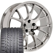 22x10 Wheel And Tire Fit Dodge Ram Truck Hellcat Style Chrome Rim W/gy Tire Cp
