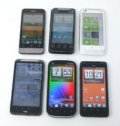 Lot Of 6 Various Working Htc Android Smartphones - One V / Radar 4g / Inspire 4g