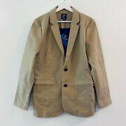 New Under Armour Sportswear Mens Two Button Sport Coat Beige Stretch Pockets Med