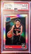 Trae Young 2018-19 Donruss Optic Rated Rookie Holo Psa 10💎🔥💎🔥💎🔥✨