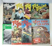 Vintage 1951-54 Toy Trains And Whistle Stop Magazine Lot Of 8 Issues Total W/ Ads