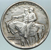 1925 Usa Stone Mountain Generales Lee And Jackson Silver Half Dollar Coin I87319
