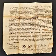 1747 Antique Colonial Deed Falmouth Me Dan Bayley Baily Wm Westcoat Land
