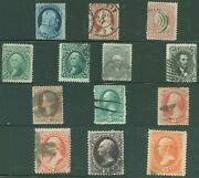 Us Small Lot Of 13 Used 19th Century Classic Stamps Very Nice Lot Scv 950