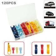 120pcs Heat Shrink Wire Connectors Nylon Marine Electrical Terminals Ring + Box