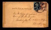 1860 New York Crisp Cancel Cover / 24 And 26 Tied / Taped Sides - L29167