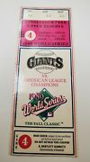 1989 World Series Oakland A's Mlb Used Ticket Stub Earthquake Series Clincher Sf