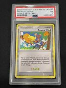 2008 Pokemon D And P Promo World 08 Staff - Tropical Wind Dp25 Psa 7 Nm