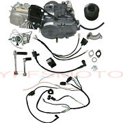 Lifan 140cc 4 Gear Manual Clutch Engine Motor And Wires Pit Dirt Bike Crf50 Ct110