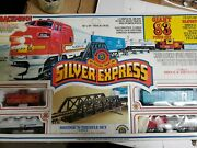 Collectible Silver Express Train Set 83 Pieces Bachman 00080 Never Opened