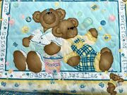 Fabric Pre-quilted Panel Daisy Kingdom Butterfly Bears-quilt 35x44