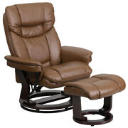 Palimino Leathersoft Swivel Recliner Chair With Swivel Ottoman Footrest