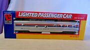 Ho Scale Life-like 65and039 Diner Dome Car Amtrak Silver 8053 Built Lighted Bnos