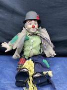 Vintage 1983 Dynasty Doll Collection Clyde The Hobo Clown Porcelain Doll