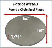 Round/circle Steel Plate | 1/4 Thick 12 Diameter | A36 Steel -made In Usa
