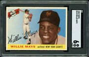 1955 Topps Willie Mays 194 Hi No. Sgc 6 Ex-nm Out-of-the-pack Fresh