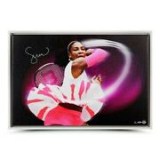 14/25 Serena Williams Personally Signed Pioneer Canvas Framed