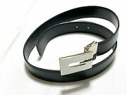 Authentic Belt Black Mens 3750 Secondhand Free Shipping No.284