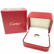 Authentic Love Ring White Gold 750 Wg Finished With Box Rewards No.8386
