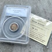 ✪ 1907 Canada 5 Cent Silver Coin - Iccs / Pcgs Gem Ms 65