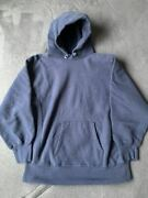 80s Champion Reverse Weave Hoodie Size Xl Navy Made In Usa Good Condition Rare