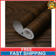 Walnut Wood Grain Contact Paper Vinyl Adhesive Peel And Stick Wallpaper Removable