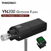 The New Yongnuo Yn200 Ttl Hss 200w Outdoor Flash Suitable For Canon Nikon