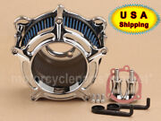 Aluminum Air Cleaner Bule Intake Filter Fit For Harley Dyna Road King Softail