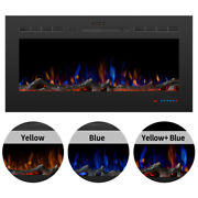 42'' 1500w Recessed Embedded Fireplace Electric Insert Heater Multicolor Flames