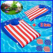Roypouta Pool Games Cornhole Inflatable 2 Sets Toys For Kids Teens Adults And Fami