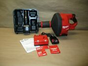 Milwaukee 2772a-21 18v Cordless Drain Cleaning Snake Auger 5/16 Cable Drive Kit