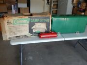 Coleman 426d Vintage 3 Burner Gas Stove Camping Grill W/box 1966 9/66