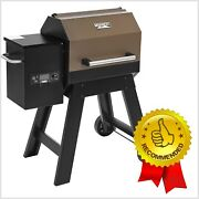 Electric Small Pellet Grill Mechanical Control 22 Inch Wide Smoker Grill Bbq New