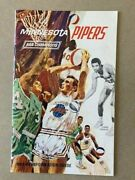Aba Champs Minnesota Pipers 1968-69 Press Guide American Basketball Association
